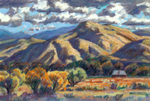 Gila River Valley Autumn pastel by Jeff Potter SOLD