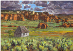 Henrieville, Utah Homestead plein air oil by Jeff Potter AVAILABLE