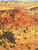 Hidden Mountain Aerial oil painting by Jeff Potter SOLD