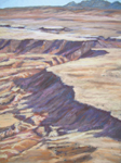 Hidden Mountain Aerial #1 pastel by Jeff Potter AVAILABLE
