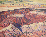 Hidden Mtn. Aerial #2 oil painting by Jeff Potter SOLD
