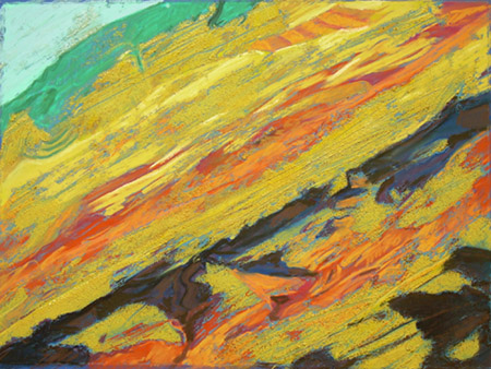 HiddenMoutainAbstraction Pastel June 2008 AVAILABLE