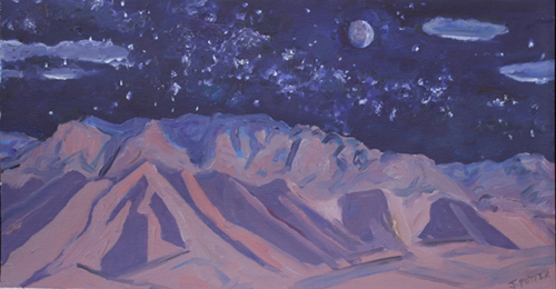 Sandia Night Sky abstractio oil by Jeff Potter AVAILABLE