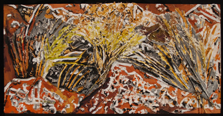 Lichen & Native Grass-based Bas Relief by Jeff Potter