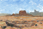 Jacob's Chair, White Canyon Utah oil monotype by Jeff Potter AVAILABLE