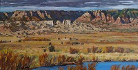 Jemez Valley Panorama oil painting by Jeff Potter SOLD