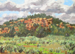Jicarilla Cliffs Plein Air OIL by Jeff Potter  AVAILABLE