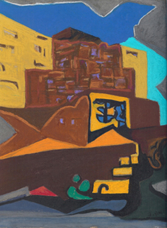 Pastel Abstraction of Sandia Casino by Jeff Potter AVAILABLE
