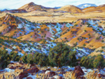 La Cienega Winter Shadows pastel by Jeff Potter AVAILABLE