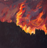 Las Conchas Firestorm acrylic painting by Jeff Potter AVAILABLE