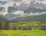 Last Pastures below Truchas Peaks oil painting by Jeff Potter AVAILABLE