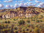 Late Summer, La Bajada oil painting by Jeff Potter AVAILABLE