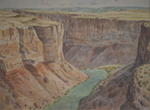 Marble Canyon of the Colorado River plein air watercolor by Jeff Potter AVAILABLE