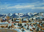 Mid-winter thaw, Truchas, NM oil painting by Jeff Potter AVAILABLE