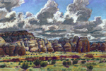 Monsoon Cloud Shadows pastel by Jeff Potter AVAILABLE