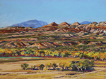 October afternoon Bosquecito, NM plein air pastel by Jeff Potter AVAILABLE