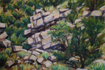 Old South 14 roadcut pastel by Jeff Potter SOLD