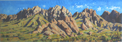 "Organ Mountain Panorama (16"" x 48"") oil by Jeff Potter AVAILABLE"
