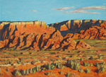 Paria River Canyon Shadows oil by Jeff Potter SOLD