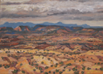 "Plein Air OIL ""Pending Storm, Nacimiento Range"" by Jeff Potter SOLD"