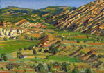 Pine Creek Valley plein air oil by Jeff Potter AVAILABLE