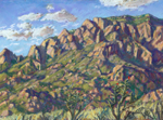 Elena Gallegos Open Space View of Sandias pastel by Jeff Potter AVAILABLE