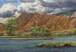 Rincon Ridge, Sandia Lakes pastel by Jeff Potter AVAILABLE