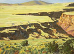 Rio Grande Gorge demonstration oil painting by Jeff Potter AVAILABLE
