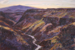Rio Grande Gorge Shadows pastel painting by jeff Potter SOLD
