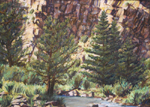 Rio Puebla plein air pastel by Jeff Potter AVAILABLE