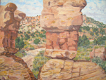 Plein Air oil painting at Devils Garden formations at Grand Staircase / Escalante National Monument AVAILABLE