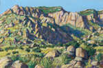 Sandia Foothills Series-1 pastel by Jeff Potter AVAILABLE