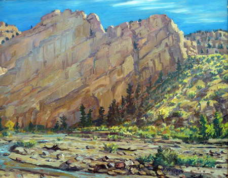 Sandstone Drama plein air oil painting by Jeff Potter AVAILABLE
