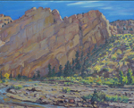 Sandstone Drama a plein air oil painting by Jeff Potter AVAILABLE