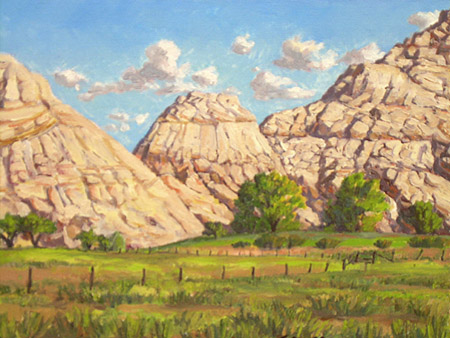 completed Plein Air oil painting Sandstone Formation East of Boulder by Jeff Potter SOLD