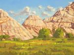 Sandstone Formations Near Boulder UT oil by Jeff Potter SOLD