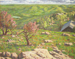Spring Comes to Shenandoah NP oil by Jeff Potter AVAILABLE