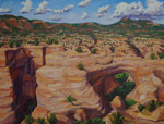 Sipapu Natural Bridge studio oil painting by Jeff Potter AVAILABLE