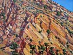 Slickrock patterns near Escalante plein air oil painting by Jeff Potter AVAILABLE