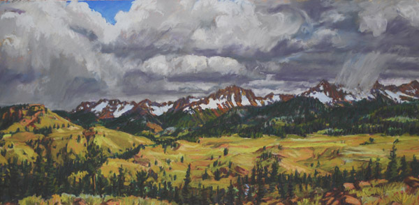 Storm in Sneffles Range studio pastel by Jeff Potter AVAILABLE