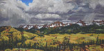 Storm in Sneffles Range stusio pastel by Jeff Potter AVAILABLE