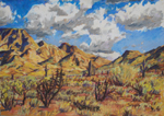 Sonoron Desert Monsoon Rising pastel by Jeff Potter SOLD