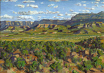 Straight Cliffs Evening plein air oil by Jeff Potter SOLD