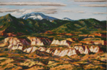 Tent Rocks & Redondo Peak pastel by Jeff Potter AVAILABLE