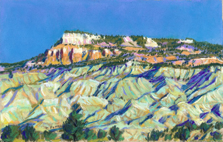 The Blues formation below Powell Point pastel by Jeff Potter  SOLD