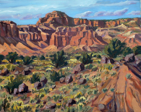 Torrey Breaks plein air oil by Jeff Potter AVAILABLE
