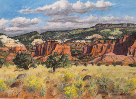 "completed Plein Air pastel ""Torrey Breaks"" by Jeff Potter  SOLD"