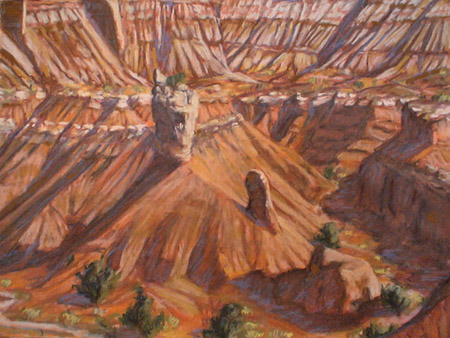 "plein air pastel ""Under the Angels Palace"" by Jeff Potter   SOLD"