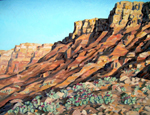 Vermillion Cliffs Morning oil by Jeff Potter