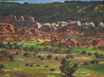 TorreyUtah view - plein air oil painting by Jeff Potter AVAILABLE